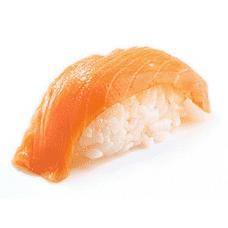 Нигири с копченным лососем